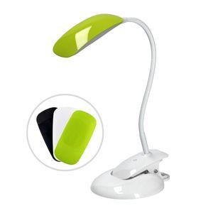 Solight LED stmívatelná lampička 2v1, podstavec i klip, 5W 4000K, 3 barevné kryty WO42
