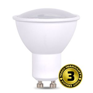 Solight LED žárovka, bodová , 7W, GU10, 4000K, 500lm, bílá WZ319A