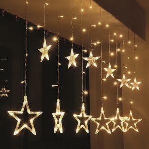 Solight LED vánoční závěs s hvězdami, 1,8m Teplá bílá