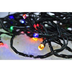 Solight LED venkovní vánoční řetěz, 300 LED, 30m, přívod 5m, 8 funkcí, časovač, IP44, vícebarevný, 1V04-M