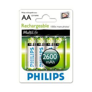 Nabíjecí baterie Philips NiMH 2600 mAh AA (tužka) 4 ks