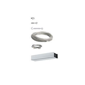 Paulmann Lankový systém Set BAsic základní systém 15m matný chrom 230/12V 940.96 P 94096