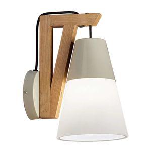 Viokef Nástěnné světlo Lucas s dřevěnou základnou