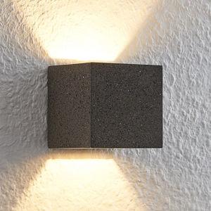 Lindby Lindby Quaso LED nástěnné světlo, beton černá žula