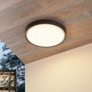 Lucande Lucande Lare LED venkovní stropní svítidlo, Ø 32cm