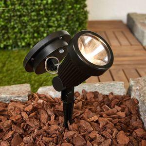 Lindby Solární LED zapichovací reflektor Eddie, černý
