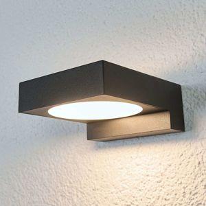 Arcchio Černá LED venkovní nástěnná svítilna Natalja
