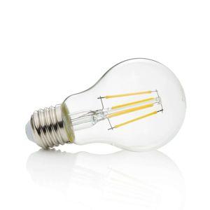 Lindby E27 LED žárovka Filament 4 W, 470 lm, 2700K, čirá