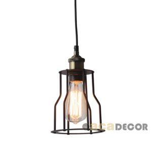 ACA Lighting Vintage závěsné svítidlo KS1342P151BK