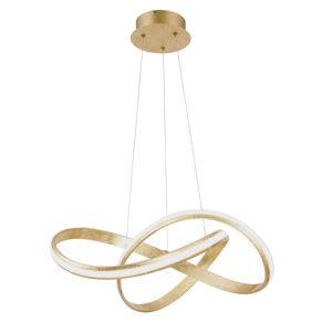 PAUL NEUHAUS LED závěsné svítidlo, zlatá, moderní design SimplyDim 2700K PN 8291-12