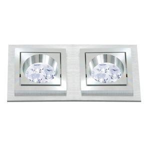 BPM Vestavné svítidlo Aluminio Plata, kartáčovaný hliník 2x50W, 230V 4783 3067GU