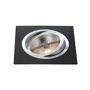 BPM Vestavné svítidlo Aluminio Negro, černá, 9LEDx3W, 230V 4902 3072LED.D40.3K