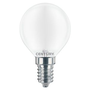 CENTURY LED FILAMENT MINI GLOBE SATEN 6W E14 4000K 806Lm 360d 45x80mm IP20 CEN INSH1G-061440