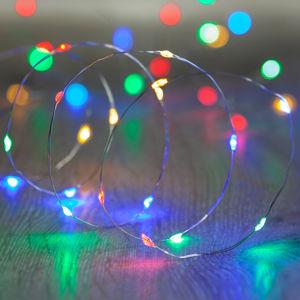 DecoLED LED světelný řetěz na baterie - barevný, 20 diod, 2,3 m