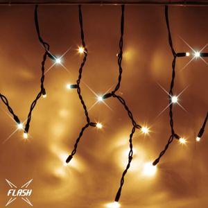 DecoLED LED světelné krápníky, FLASH, 3x0,5m, teple bílá, 114 diod, IP67 IFNX0305W
