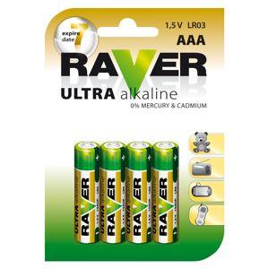 Baterie RAVER alkalická LR03