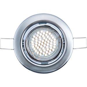 HEITRONIC LED vestavné svítidlo 5ks set SAN DIEGO broušená ocel 30174 Teplá bílá