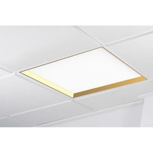 KOHL-LIGHTING WINNER LED panel zlatá 6000K opál PUSH 37W čtverec K50502.G.OP.6K.PU
