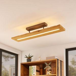 Lindby Lindby Nesaja dřevěné LED stropní svítidlo