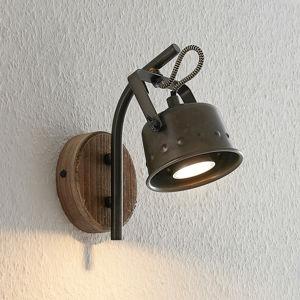 Lindby Lindby Rubinjo nástěnný reflektor, dřevěný prvek