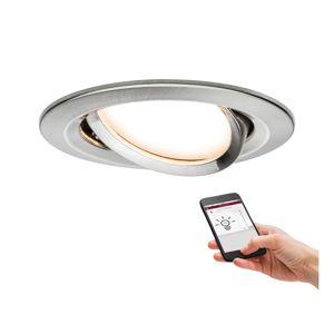 PAULMANN SmartHome Zigbee vestavné svítidlo LED Coin Nova Plus 1x6,5W stmívatelné kruhové kov kartáčovaný 929.58 P 92958 92958