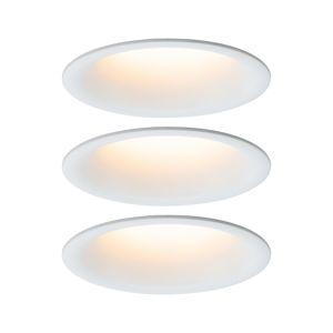 PAULMANN Vestavné svítidlo LED Cymbal 3x6,5W bílá mat proti oslnění stmívatelné 934.19 P 93419
