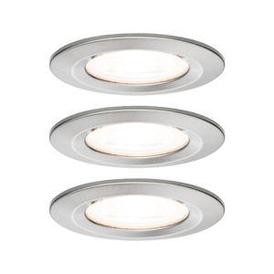 PAULMANN Vestavné svítidlo LED Nova kruhové 3x6,5W GU10 kov kartáčovaný nevýklopné 934.40 P 93440
