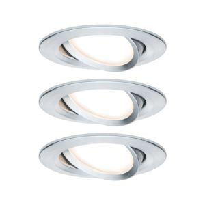 PAULMANN Vestavné svítidlo LED Nova kruhové 3x6,5W hliník broušený nastavitelné 934.51 P 93451