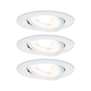 PAULMANN Vestavné svítidlo LED Nova kruhové 3x6,5W GU10 bílá mat nastavitelné 3-krokové-stmívatelné 934.67 P 93467 93467