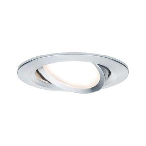 PAULMANN Vestavné svítidlo LED Nova kruhové 1x6,5W hliník broušený výklopné 3-krokové-stmívatelné 934.86 P 93486 93486